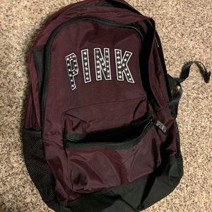 PINK Brand Maroon Backpack